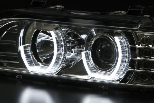 BMW E39 5シリーズ 前期 3Dエンジェルアイ ライトバー仕様ヘッドライト
