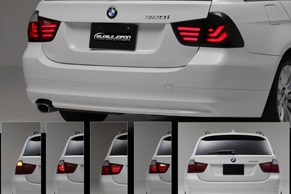BMW 3シリーズ E91 ツーリングワゴン 前期('05~'08y)   3Dライトバー LEDテールライト