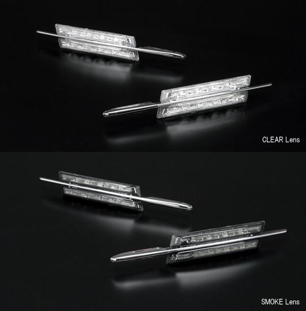 BMW 5シリーズ/3シリーズ/1シリーズ メッキフィン付き LEDサイドマーカー
